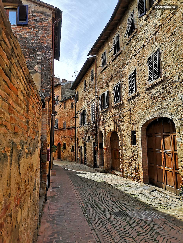 Улочка в старом городе Чертальдо