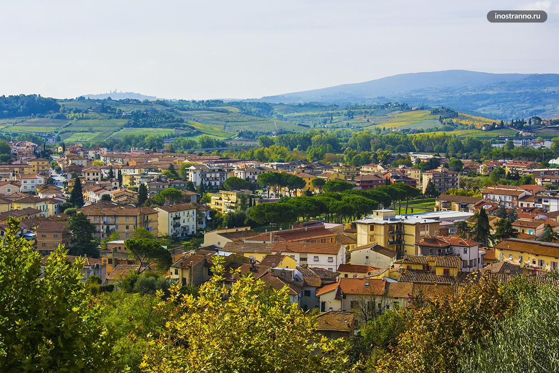 Панорама итальянской Тосканы
