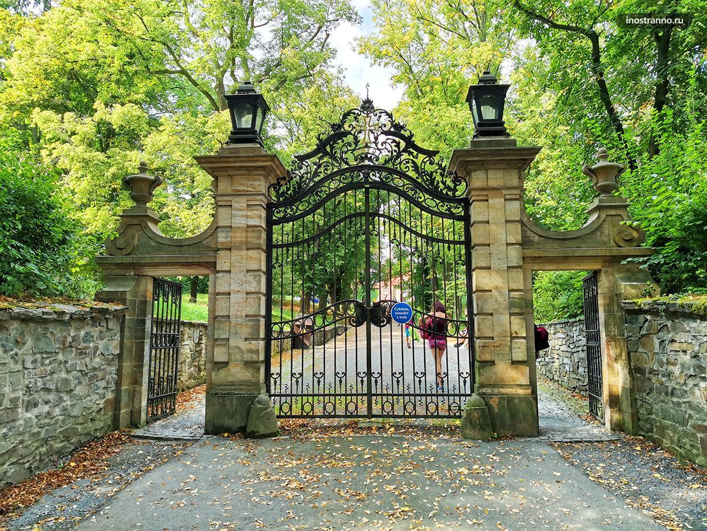 Красивые старинные металлические ворота