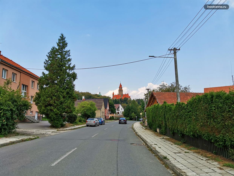 Город Боузов в Чехии
