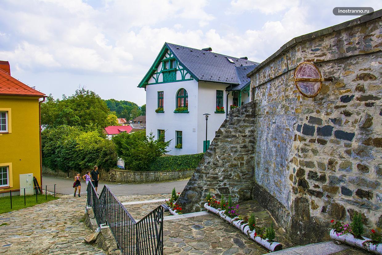 Чешский красивый старинный городок