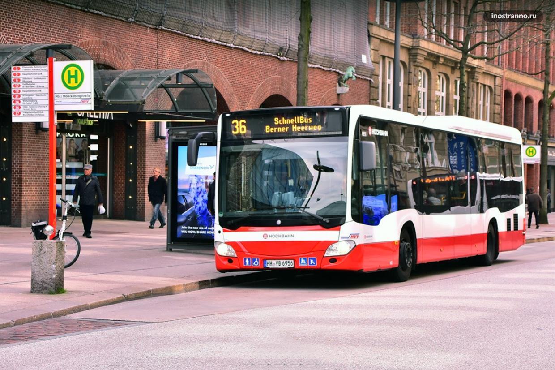 Городской автобус в Гамбурге