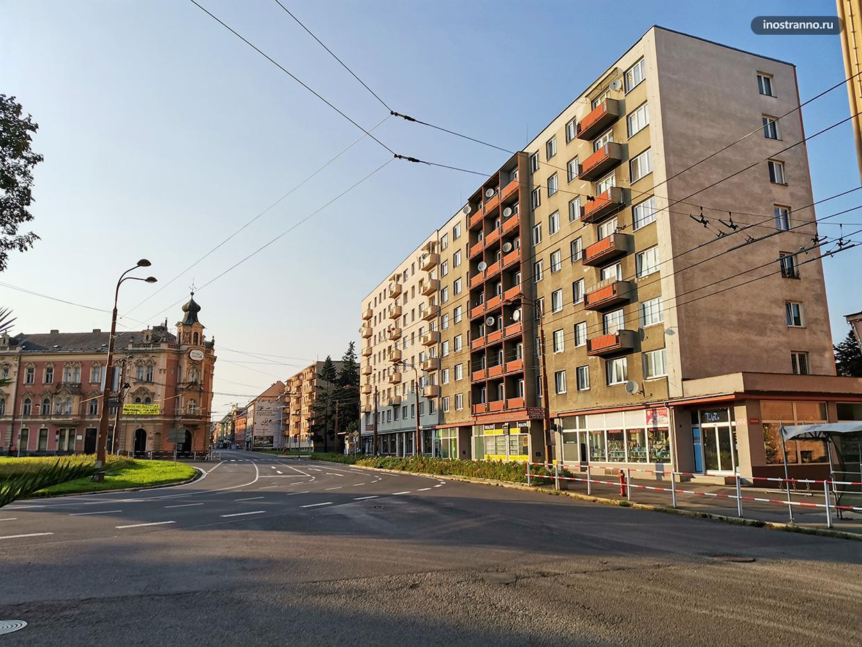 Простой многоквартирный дом в Европе