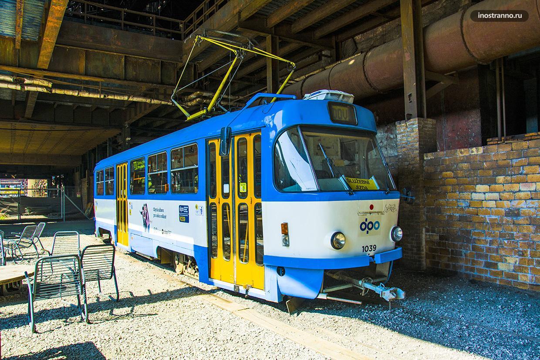 Трамвай Татра Т3 в Остраве