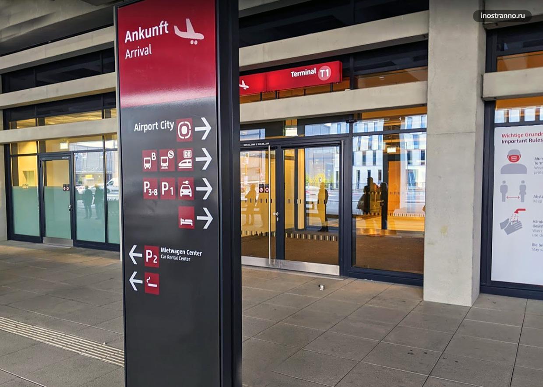 Аэропорт Берлин-Бранденбург навигация