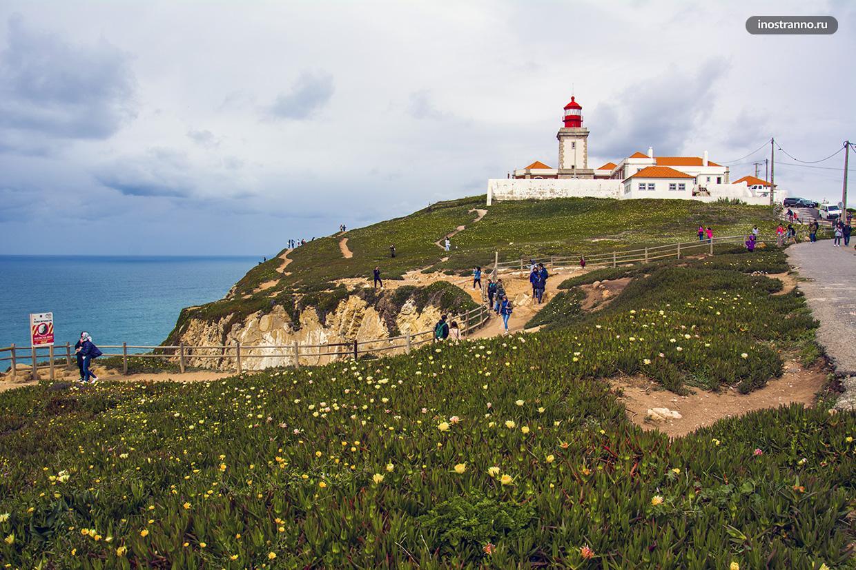 Мыс Рока с маяком в Португалии