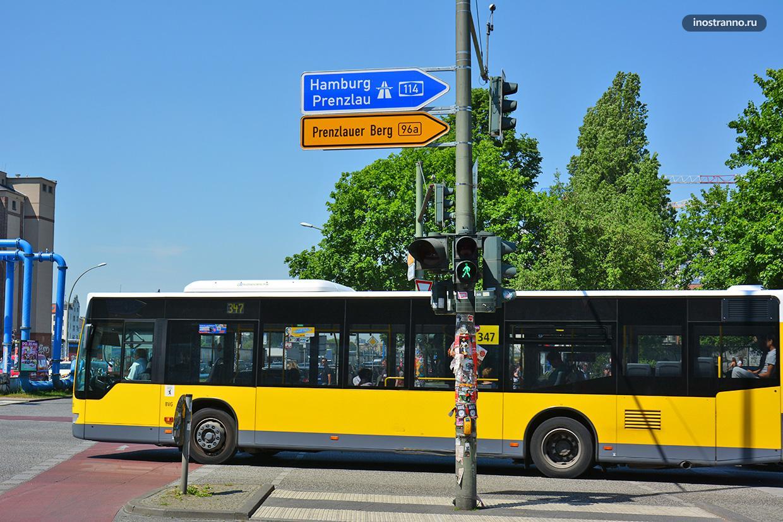 Городской автобус в Дюссельдорфе