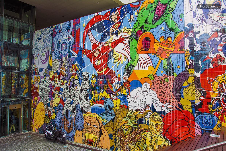 Граффити по комиксам Марвел и DC