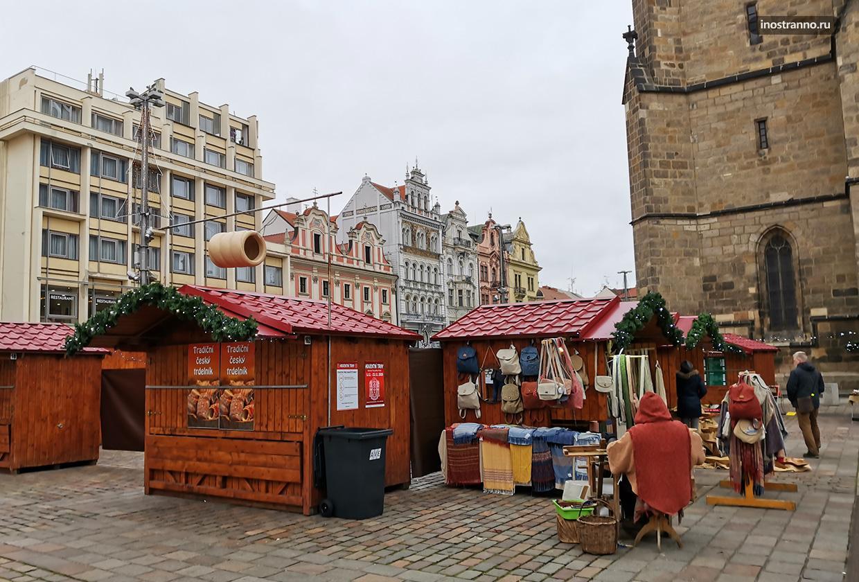 Рождественский рынок в Чехии Пльзень