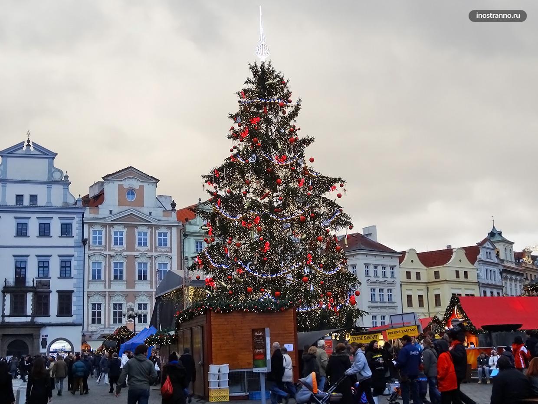 Рождественская ёлка в Праге 2012 год