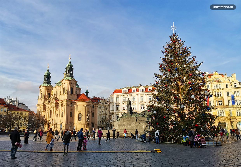 Рождественская ёлка в Праге 2020