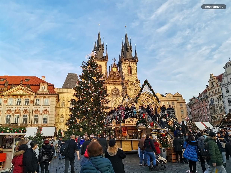 Как украшают Прагу на Рождество и Новый год