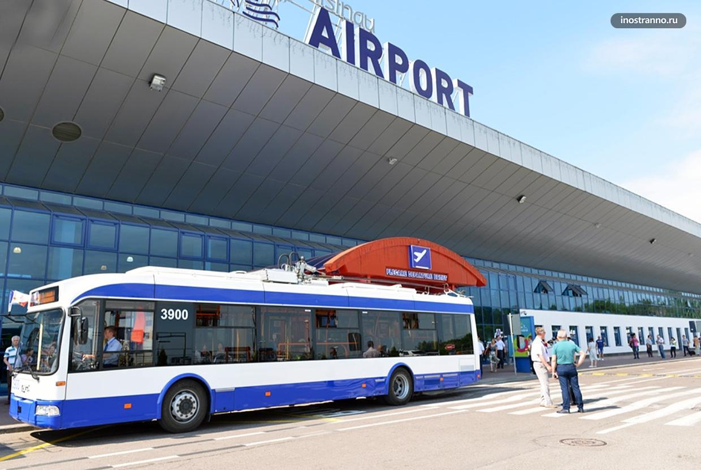 Автобус из аэропорта Кишинева в центр