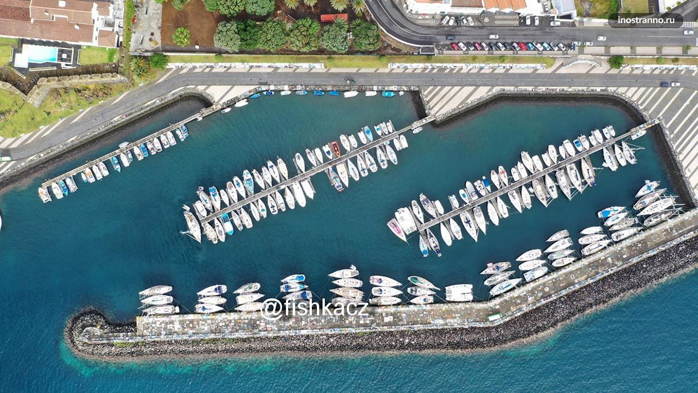 Легендарная марина яхт на Азорских островах