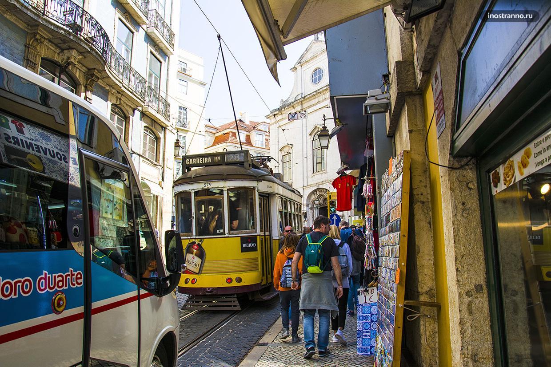 Лиссабонский желтый трамвай 28