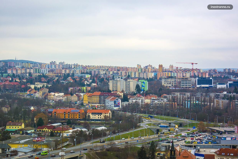 Пльзень панельные дома в Чехии