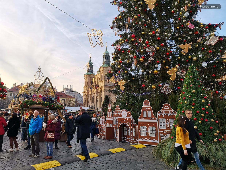 Рождественский рынок в Праге места и фото