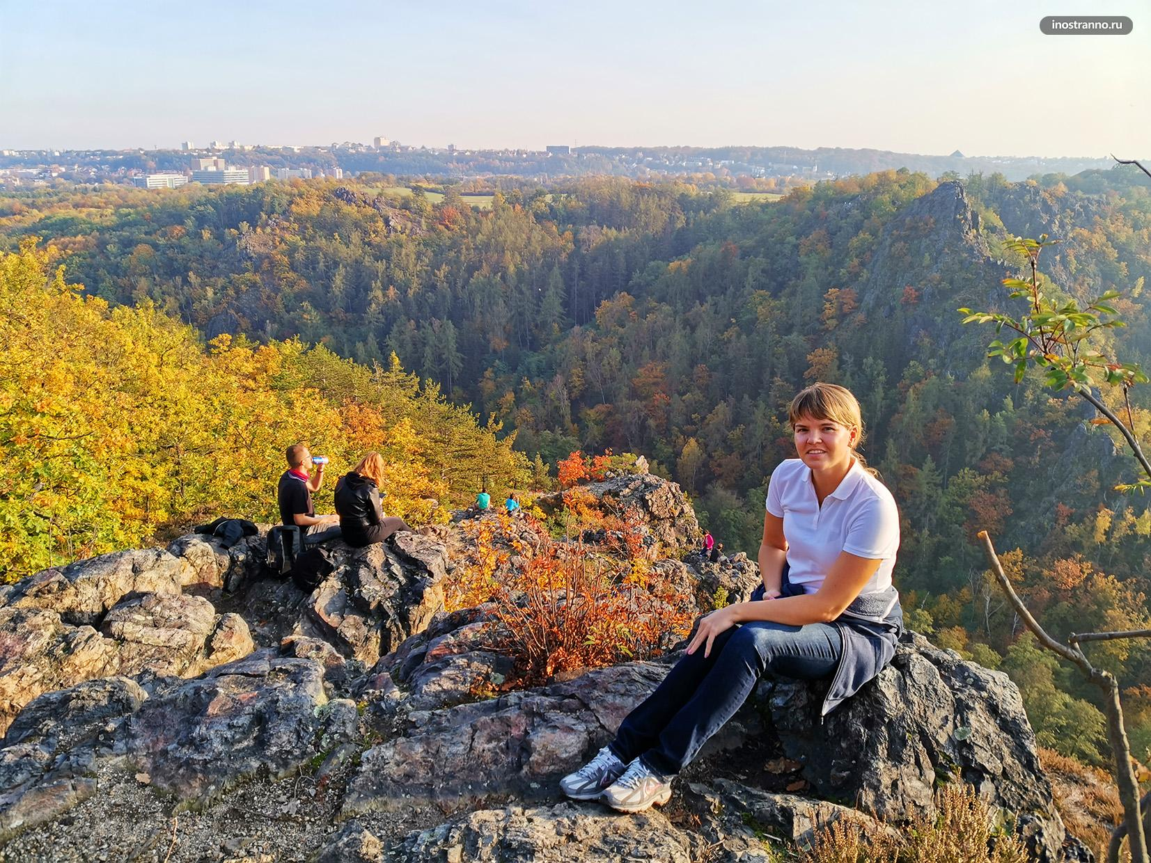 Девушка в чешском парке