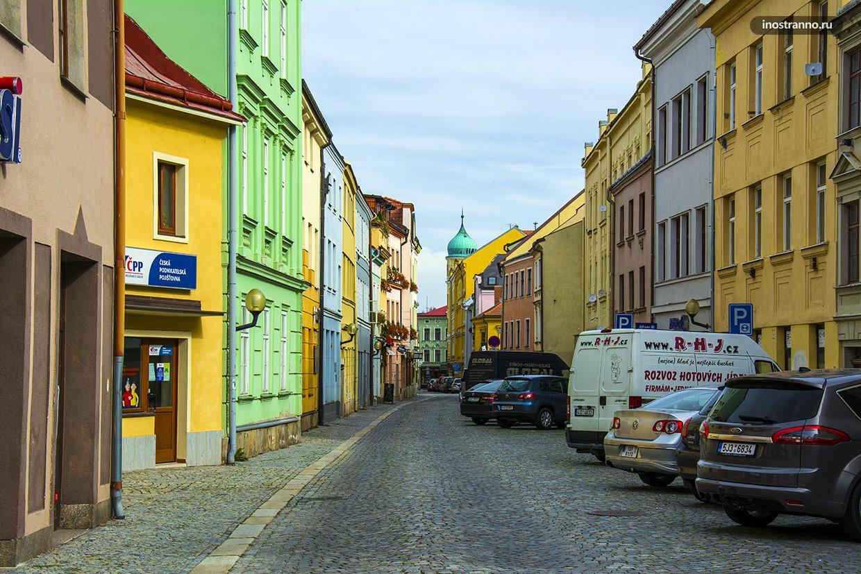 Красивая улица в Чехии