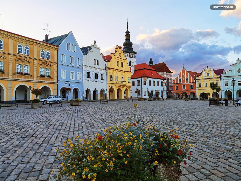 Пельгржимов красивый город в Чехии на Высочине