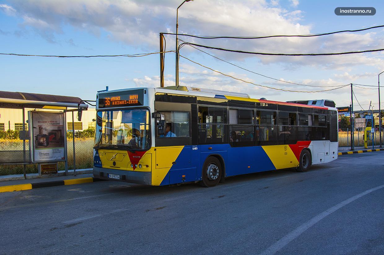 Салоники городской автобус общественный транспорт