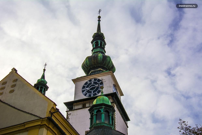 Крупнейшие башенные часы в Чехии