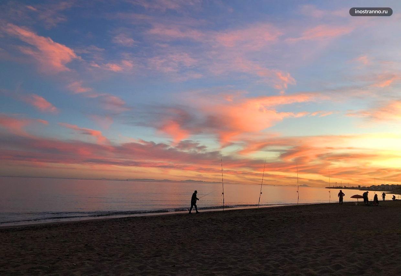 Восход солнца в Средиземноморье