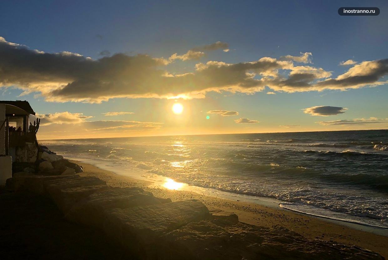 Восход солнца в Марбелье