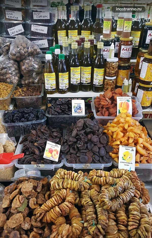 Черногорские продукты на рынке