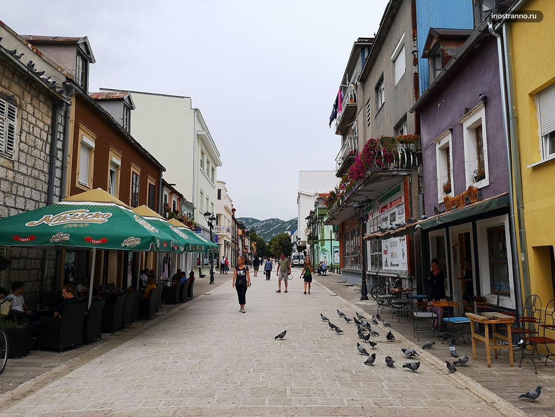 Пешеходная улица в Черногории