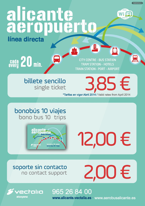 Стоимость проезда в Аликанте из аэропорта
