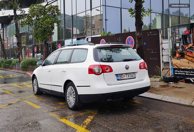 Такси в Черногории такси и как заказать