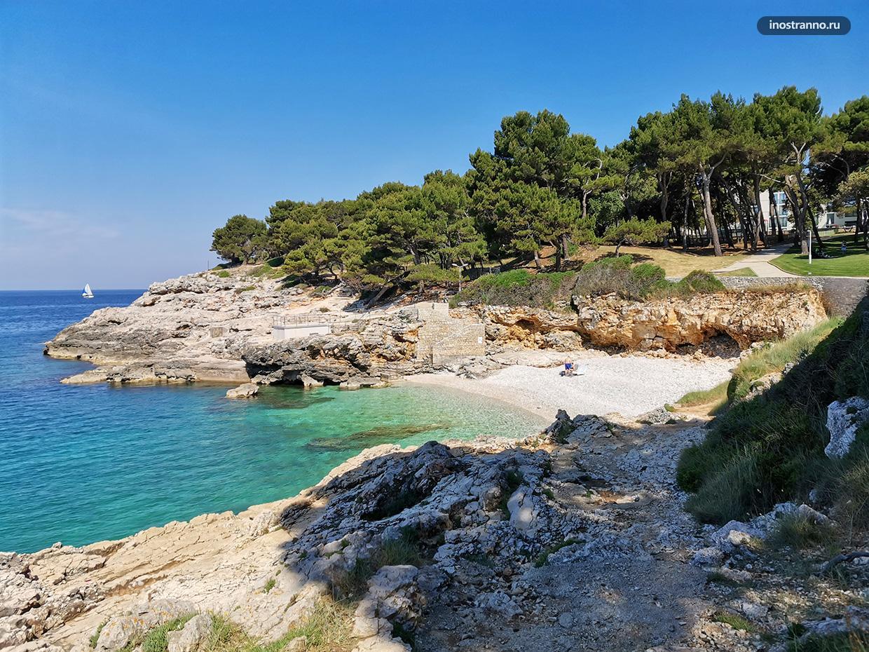 Как выглядят пляжи в Хорватии