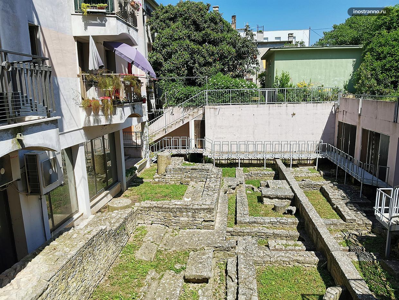 Раскопки в Пуле, Хорватия