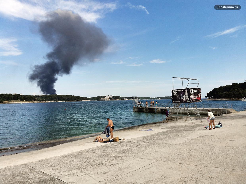 Пожар в Хорватии