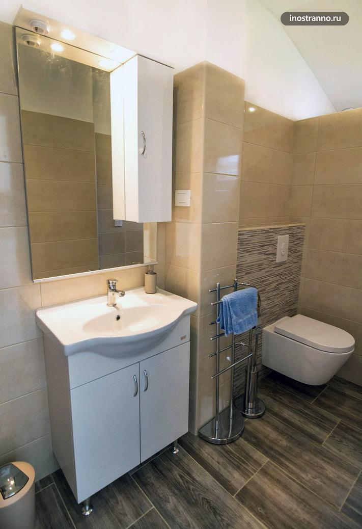 Туалет в апартаментах в Хорватии