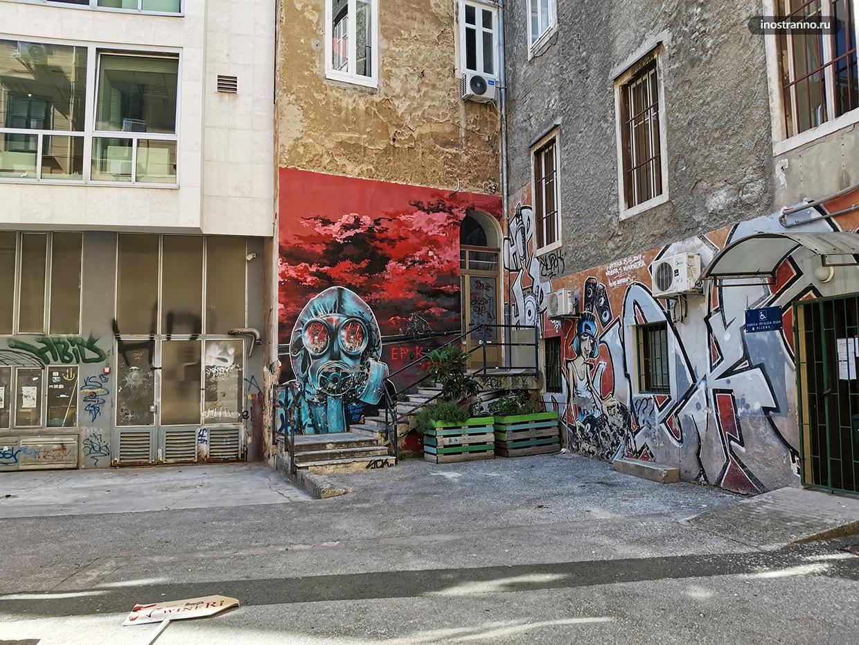 Граффити арт постапокалипсис