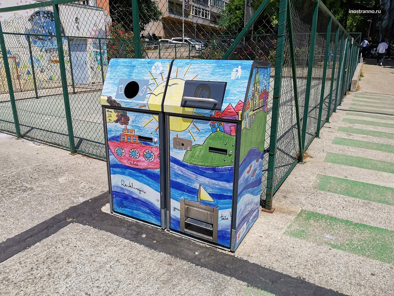 Граффити мусорные урны