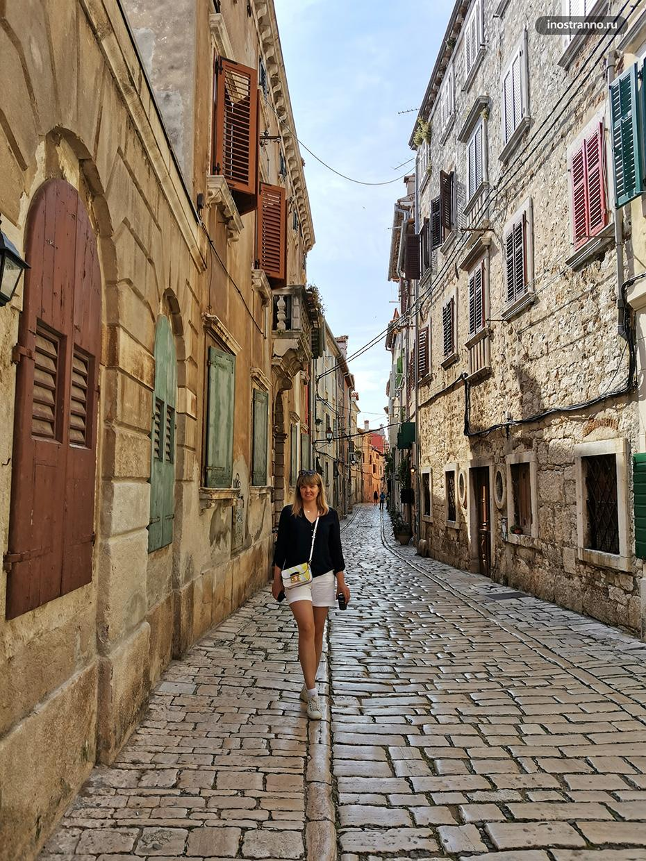 Традиционная узкая улица Италии