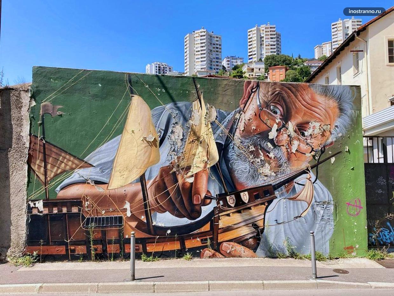 Кораблик граффити