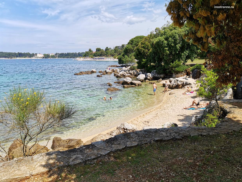 Дикий пляж в Истрии