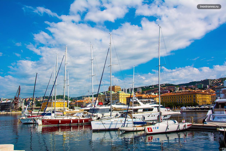 Лодки и яхты на Адриатическом море