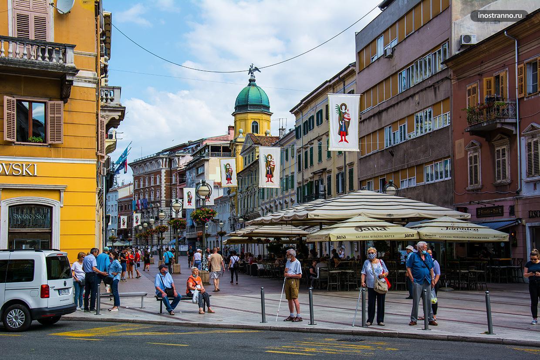 Центральная пешеходная улица Корзо в Риеке