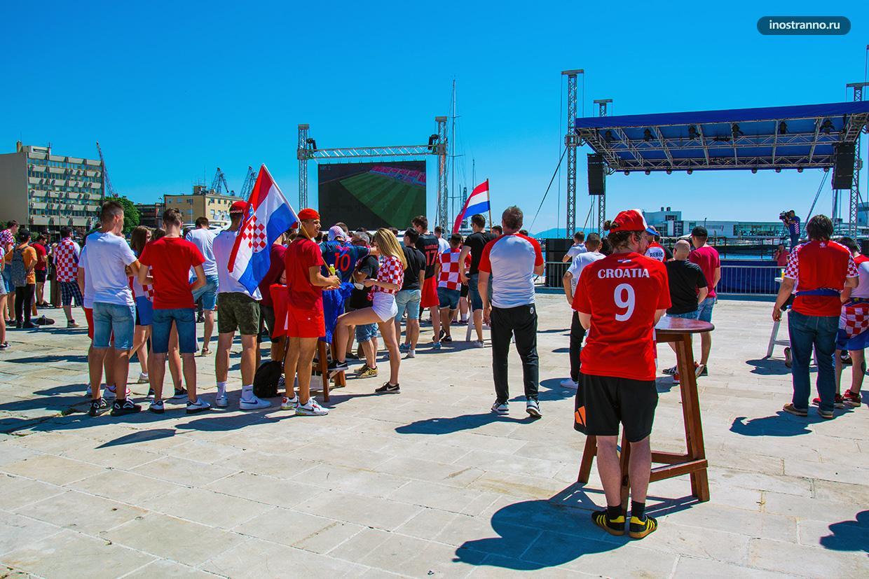 Футбольный матч в Хорватии