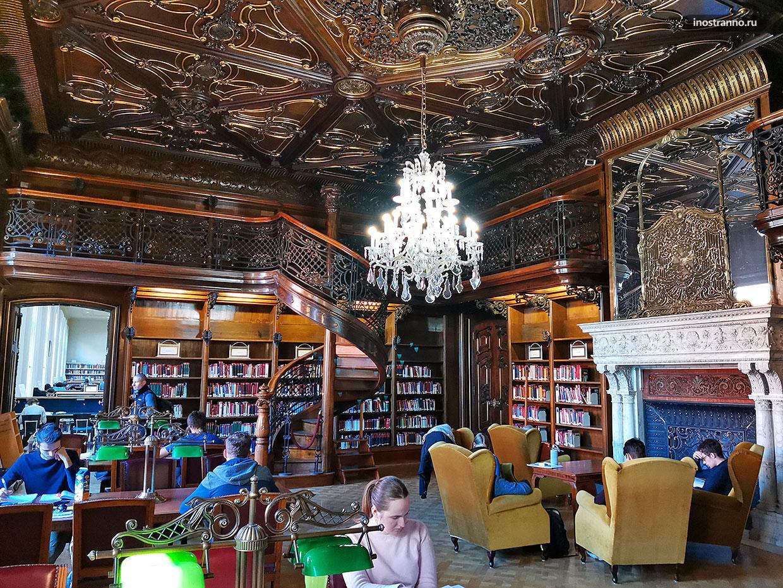 Потрясающая библиотека в венгерском Будапеште