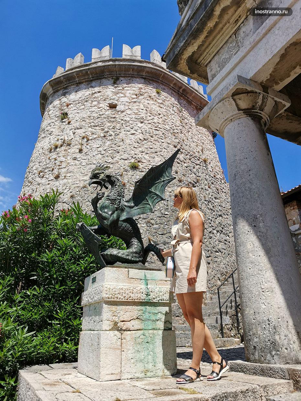 Символ крепости Трсат дракон