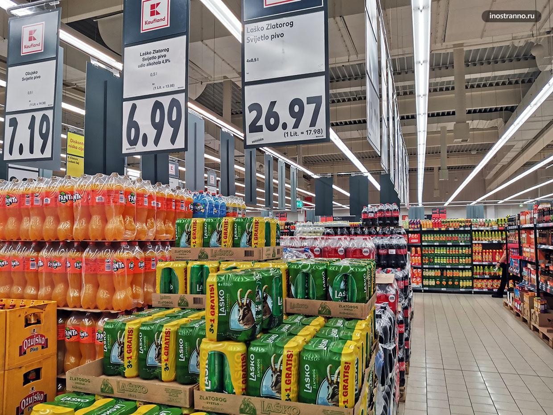 Что купить в супермаркете в Хорватии
