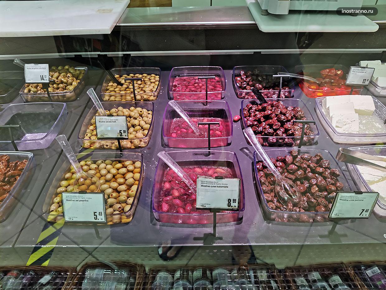 Где купить вкусные оливки в Хорватии